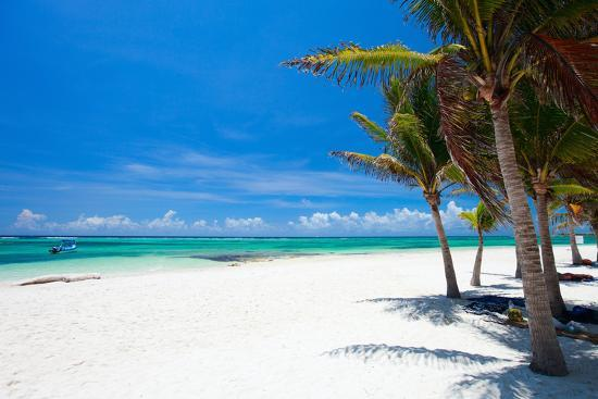 Beautiful White Sand Beach in Akumal Mexico-BlueOrange Studio-Photographic Print