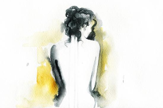 Beautiful Woman Body. Abstract Watercolor .Fashion Background-Anna Ismagilova-Art Print