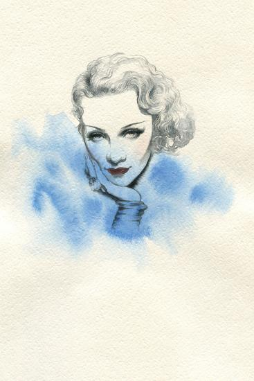 Beautiful Woman. Hand Painted Fashion Illustration-Anna Ismagilova-Art Print