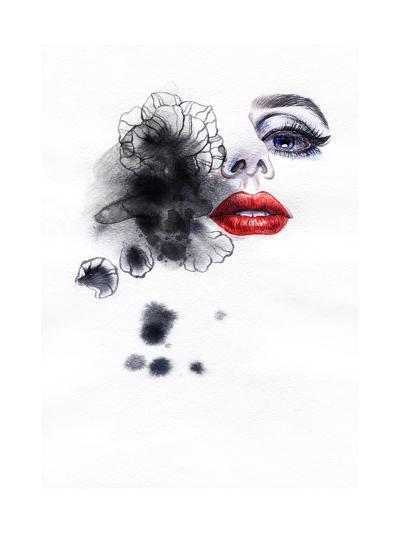 Beautiful Woman. Watercolor Illustration-Anna Ismagilova-Art Print