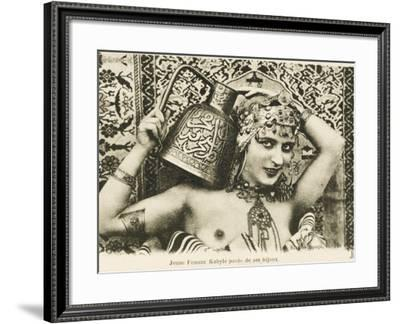 Beautiful Young Woman of the Kabyle People--Framed Photographic Print