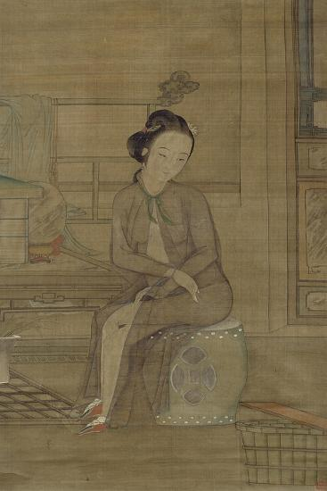 Beauty About to Bathe, Qing Dynasty--Giclee Print