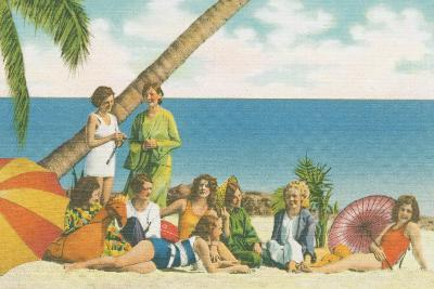 Beauty and the Beach Bright-Wild Apple Portfolio-Art Print