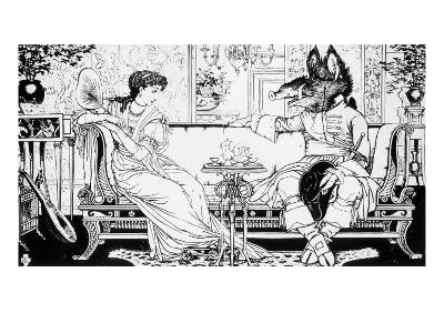 Beauty and the Beast, 1874-Walter Crane-Giclee Print