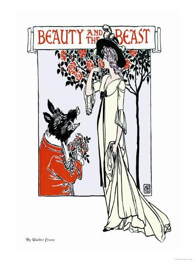 Beauty and the Beast, c.1900-Walter Crane-Art Print