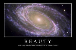 Beauty: Inspirational Quote and Motivational Poster