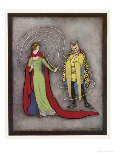Beauty is Dismayed by the Beast's Horrific Appearance-Jennie Harbour-Giclee Print