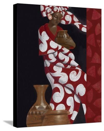 Beauty with Vase-Joadoor-Stretched Canvas Print