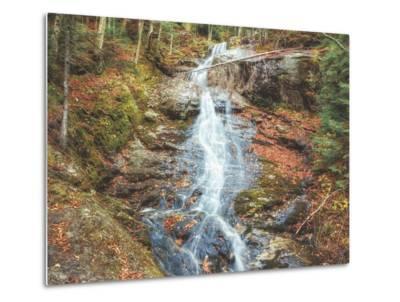 Beaver Creek Cascades in Autumn, New Hampshire-Vincent James-Metal Print