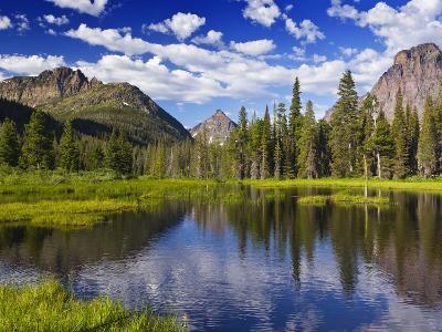 Beaver Pond in Two Medicine Valley, Glacier National Park, Montana, Usa-Chuck Haney-Photographic Print