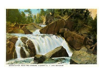 Beaver River, Lake Superior, Minnesota--Art Print