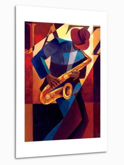 Bebop-Keith Mallett-Metal Print