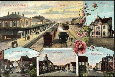 Bebra, Bahnhof Mit Eisenbahn, Postamt, Lindenplatz--Giclee Print