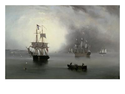 Becalmed, 1854-John Wilson Carmichael-Giclee Print
