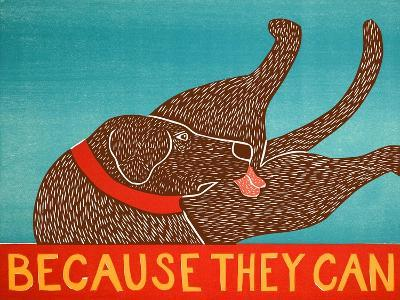 Because They Can Choc-Stephen Huneck-Giclee Print