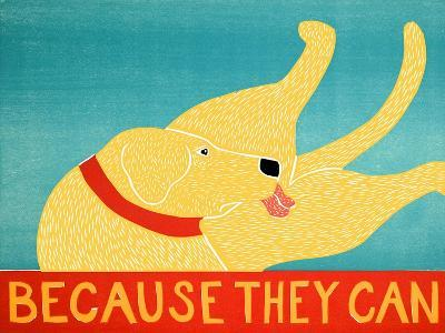 Because They Can Yellow-Stephen Huneck-Giclee Print
