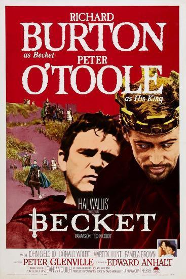 Becket, Richard Burton, Peter O'Toole, 1964--Art Print
