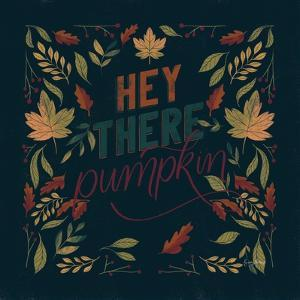 Autumn Sayings I Pumpkin by Becky Thorns