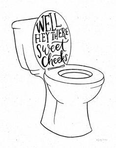 Bathroom Puns IV by Becky Thorns