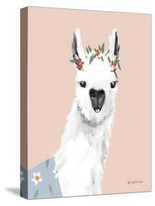 Delightful Alpacas I by Becky Thorns