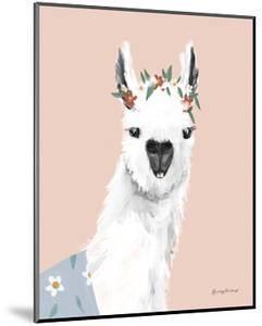 Delightful Alpacas I by Becky Thorns