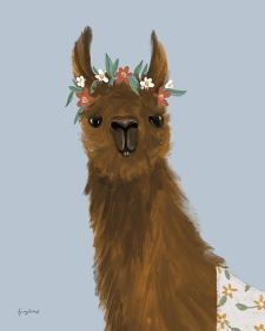 Delightful Alpacas II by Becky Thorns