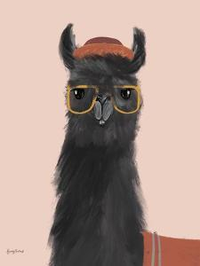 Delightful Alpacas IV by Becky Thorns