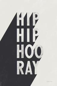 Hip Hip Hooray BW by Becky Thorns