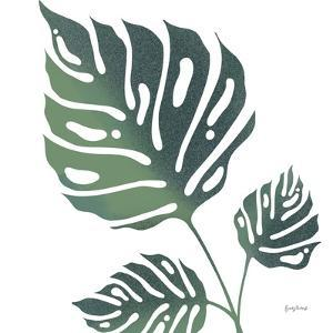 Monstera IV White by Becky Thorns