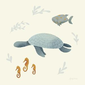 Ocean Life Sea Turtle by Becky Thorns