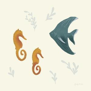 Ocean Life Seahorses by Becky Thorns