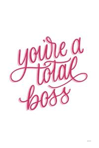 Total Boss White and Pink by Becky Thorns