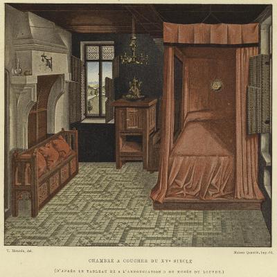 Bedchamber, 15th Century--Giclee Print