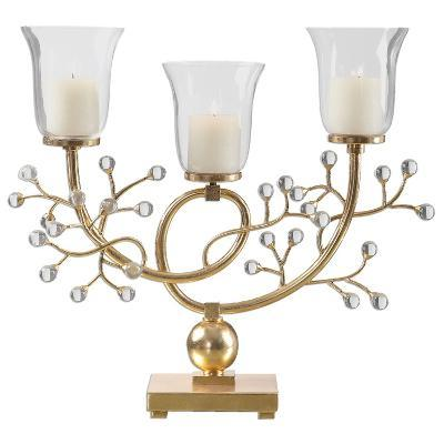 Bede Metallic Gold Candelabra--Home Accessories