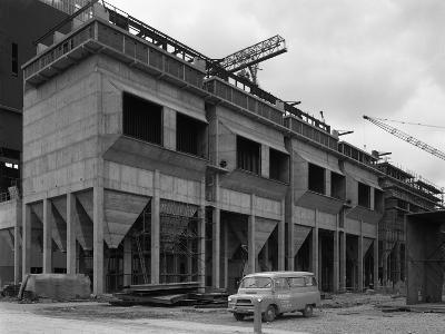 Bedford Ca Minibus Parked on a Building Site in West Burton, Nottinghamshire, 1964-Michael Walters-Photographic Print