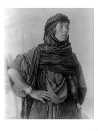 Bedouin Woman in Palestine Photograph - Palestine-Lantern Press-Art Print