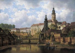 Am Moldau-Ufer in Boehmisch-Krummau, 1882 by Bedrich Havranek