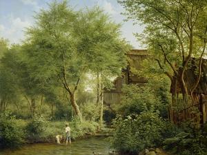Boys Playing in a Brook, 1871 by Bedrich Havranek