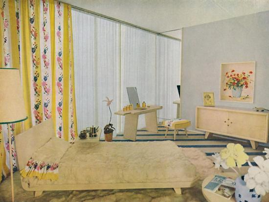 'Bedroom Designed by Suzanne Guiguichon', 1939-Unknown-Photographic Print