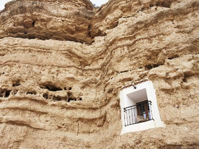 Bedroom Window of Cave Accommodation, Belerda, Near Guadix, Andalucia, Spain-Rob Cousins-Photographic Print