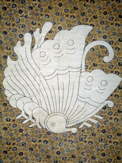 Bedspread Futonji Patterned Floral Print Calico--Giclee Print