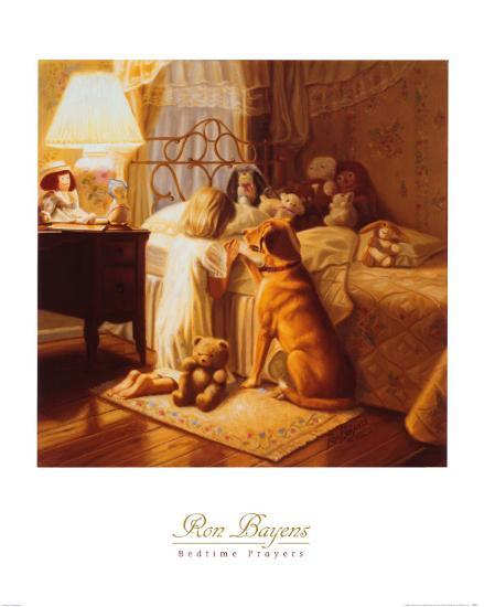 Bedtime Prayers-Ron Bayens-Art Print