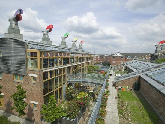 Bedzed the United Kingdom's Largest Carbon Neutral Housing Complex in Beddington, London-Ashley Cooper-Photographic Print