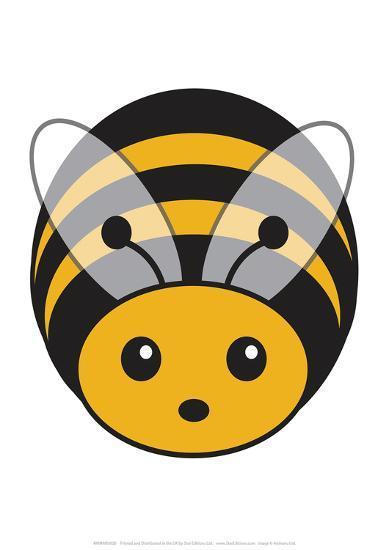 Bee - Animaru Cartoon Animal Print-Animaru-Giclee Print