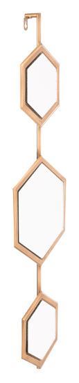 Bee Mirror 2 Gold--Wall Mirror