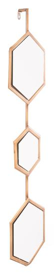 Bee Mirror 3 Gold--Wall Mirror