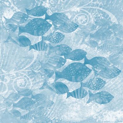 Blue Ocean School of Fish