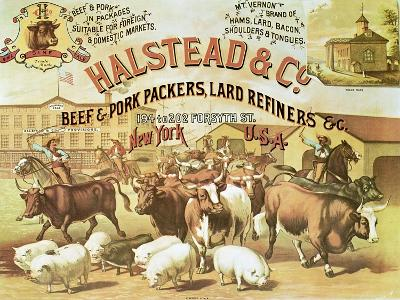 Beef and Pork Packers, c.1880--Giclee Print