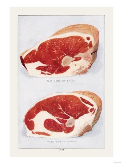 Beef: Bone Top Sirloin--Art Print
