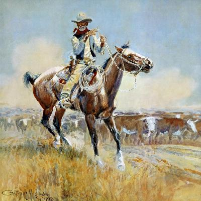 Beef for the Fighters-Charles Marion Russell-Premium Giclee Print